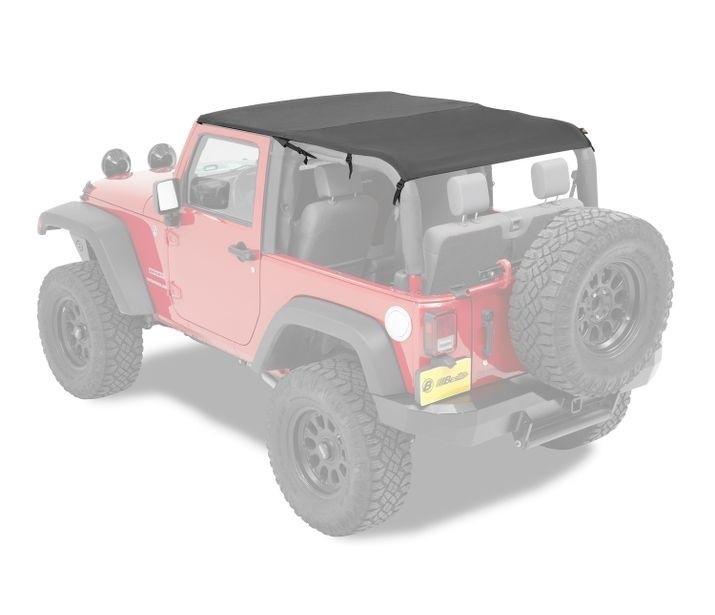 Jeep Tj Spiderwebshade Bikini Top Trailmesh Red